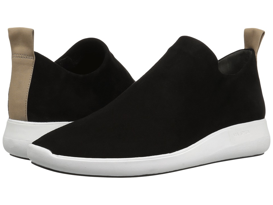 Via Spiga Marlow (Black Stretch Kid Suede) Slip-On Shoes