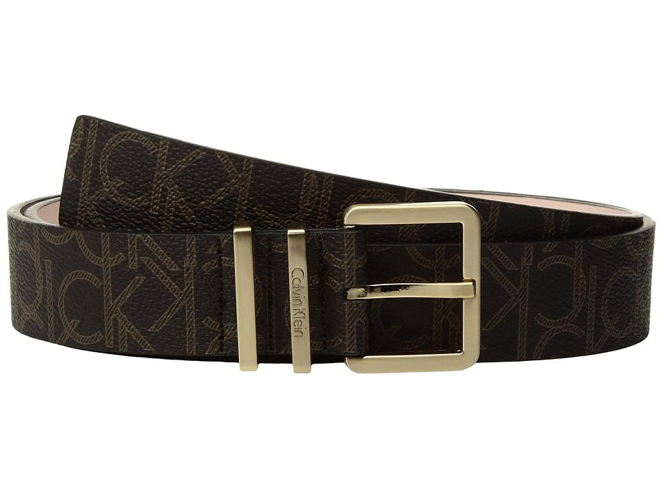 Calvin Klein 35mm Belt w/ Harness Buckle (Brown) Women