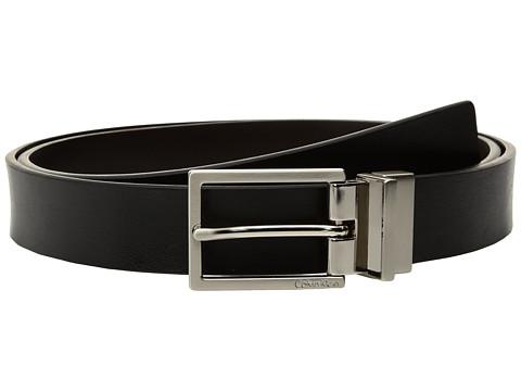 Calvin Klein 30mm Reversible Flat Strap Self Leather w/ Logo