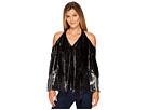 Hale Bob Creative License Silk with Burnout Velvet Cold Shoulder Top