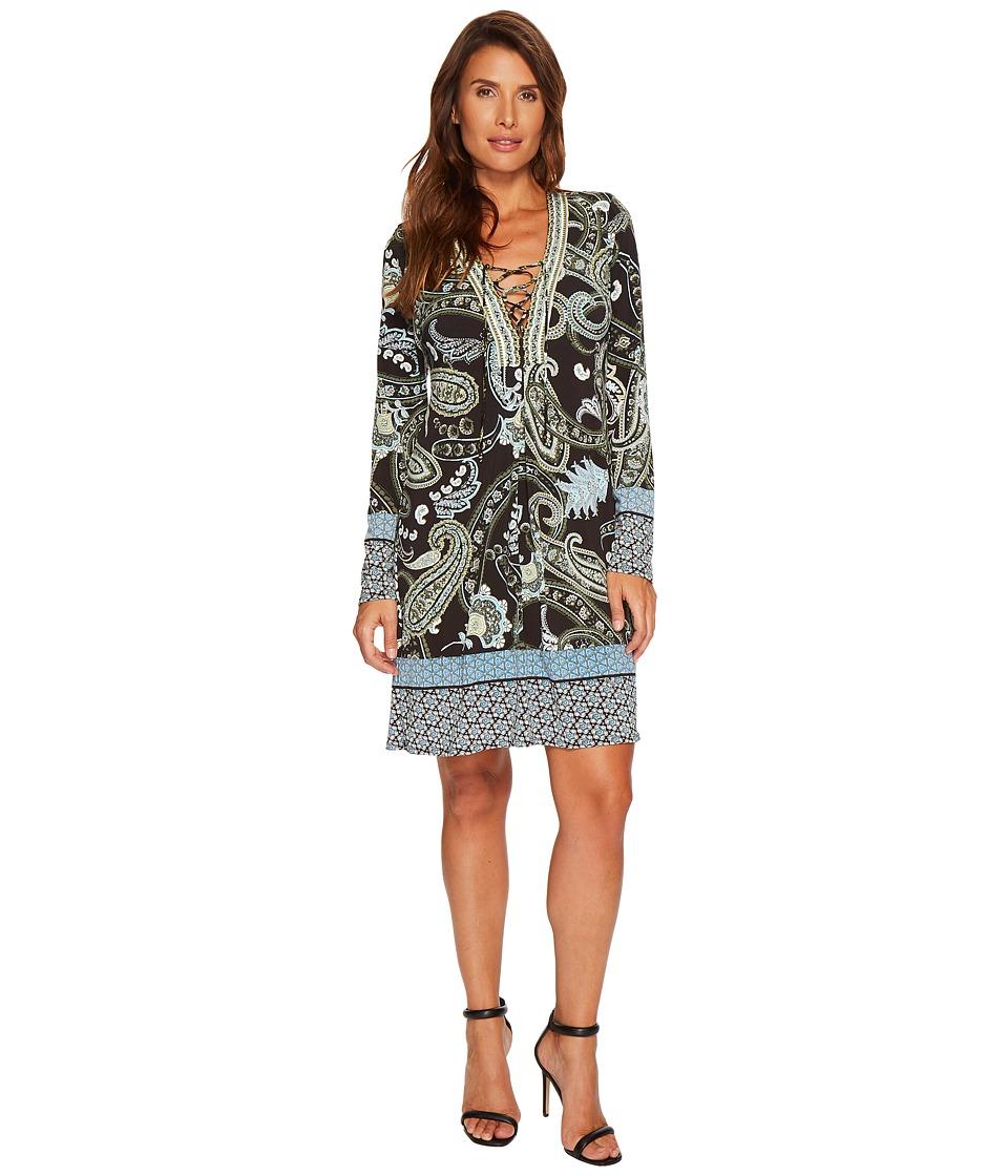 Hale Bob French Twist Matte Microfiber Jersey Dress (Olive) Women