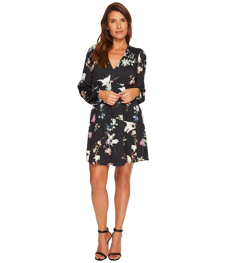 Hale Bob Natural Charm Fine Microfiber Jersey Dress (Black) Women