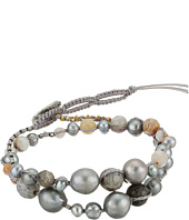 Chan Luu - Single Wrap Bracelet w/ Double Tiered Pearls