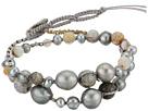 Single Wrap Bracelet w/ Double Tiered Pearls