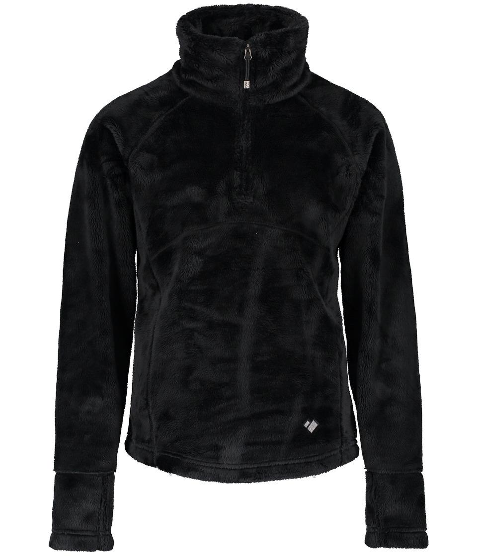 Obermeyer Kids - Furry Fleece Top (Big Kids) (Black) Girls Fleece