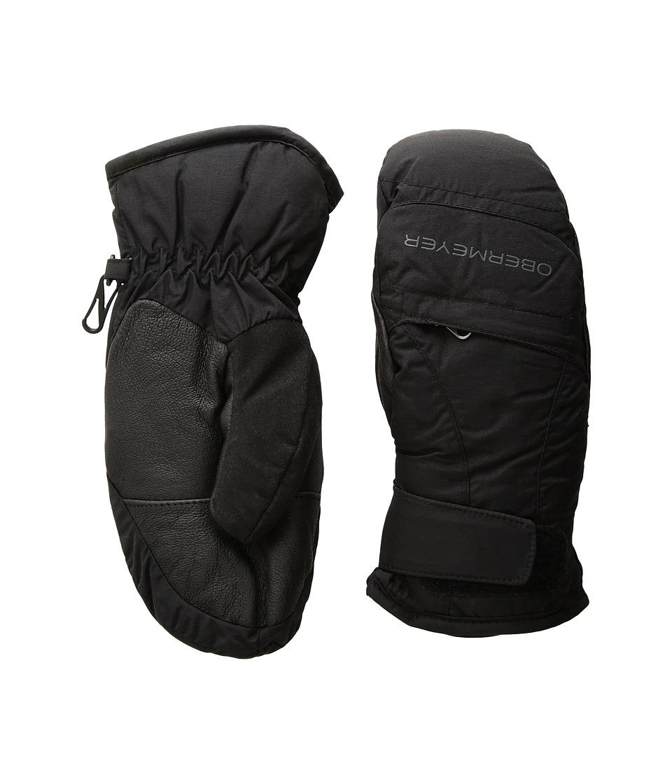 Obermeyer Kids Radiator Mitten (Big Kids) (Black) Ski Gloves