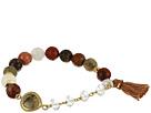 Stretch Bracelet w/ Tassel & Semi Precious Stone