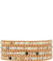 Chan Luu - 5 Wrap Bracelet w/ Abalone & Crystals