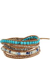 Chan Luu - Sterling Silver Nuggets 5 Wrap Bracelet w/ Semi Precious Stones