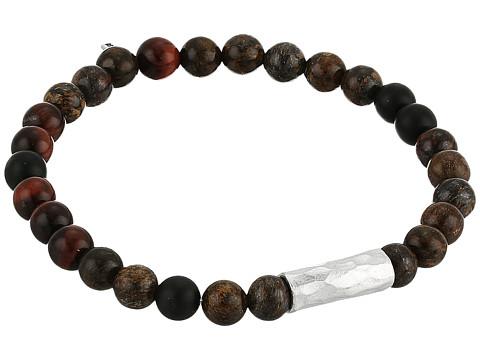Chan Luu Sterling Silver Stretch Bracelet w/ Semi Precious Stones - Bronze Mix