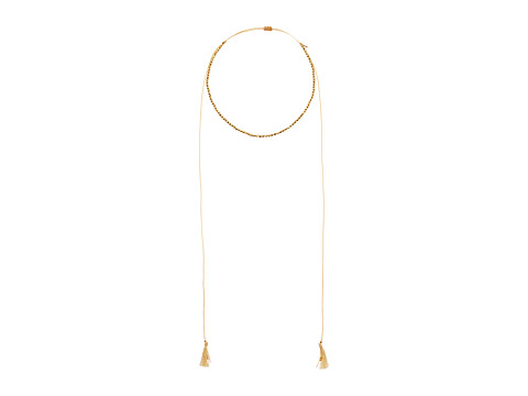 Chan Luu 18k Gold Plated Sterling Silver Nuggets w/ Adjustable Necklace On Cotton Cord - Yellow Gold