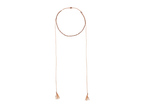 Chan Luu Sterling Silver Nuggets w/ Adjustable Necklace On Cotton Cord - Rose Gold