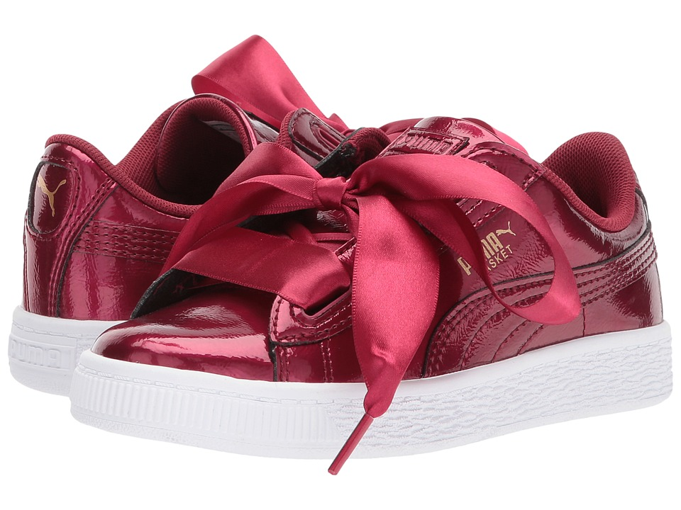 Puma Kids Basket Heart Glam (Little Kid/Big Kid) (Tibetan Red/Tibetan Red) Girls Shoes