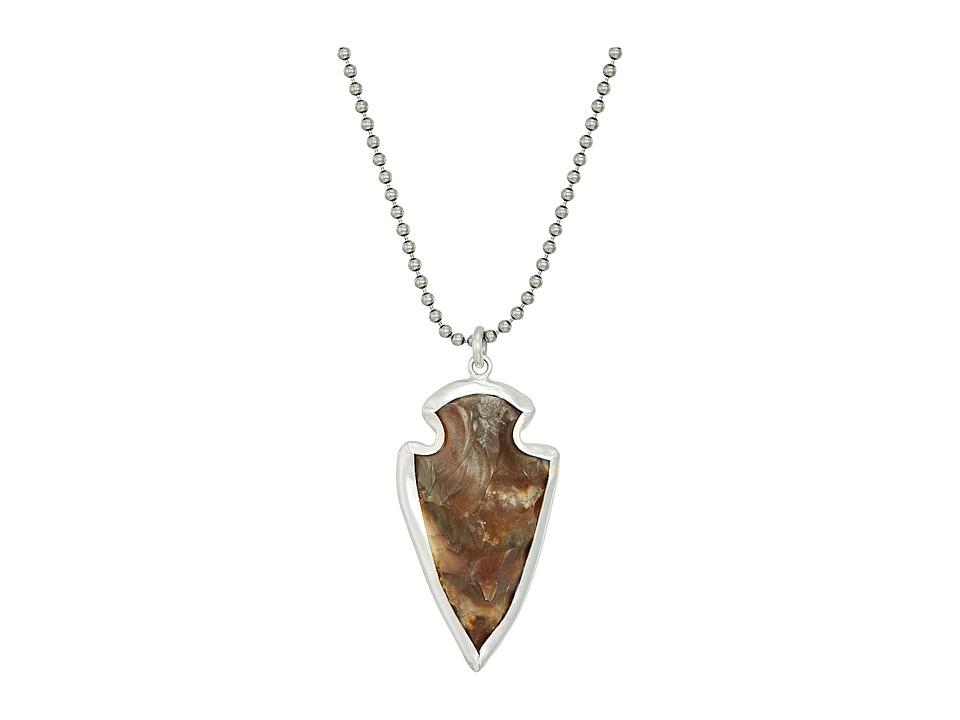 CHAN LUU Sterling Silver 22 Necklace w/ Arrowhead (Green)...