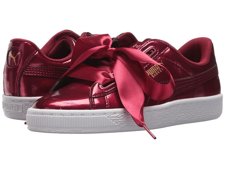 Puma Kids Basket Heart Glam (Big Kid) (Tibetan Red/Tibetan Red) Girls Shoes