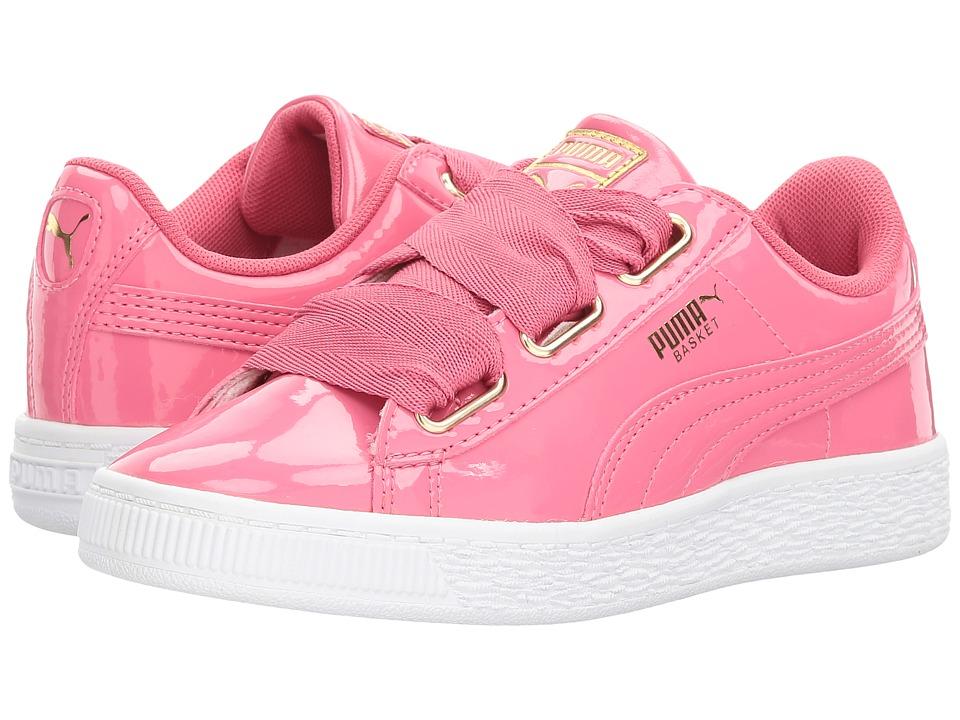 Puma Kids - Basket Heart Patent Gold (Little Kid/Big Kid) (Rapture Rose/Puma Team Gold) Girls Shoes