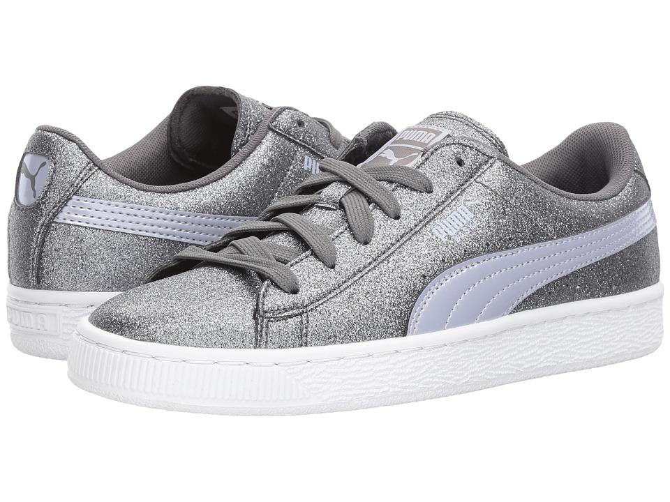 Puma Kids Basket Holiday Glitz (Big Kid) (Quiet Shade) Girls Shoes