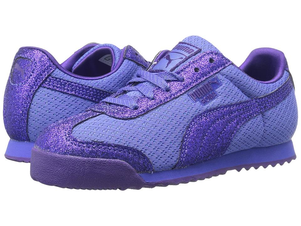 Puma Kids Roma Glitz Glamm Mesh (Little Kid/Big Kid) (Baja Blue/Baja Blue) Girls Shoes