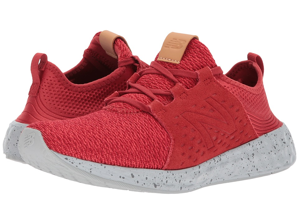 New Balance Kids KJCRZv1G (Big Kid) (Red/Grey) Boys Shoes