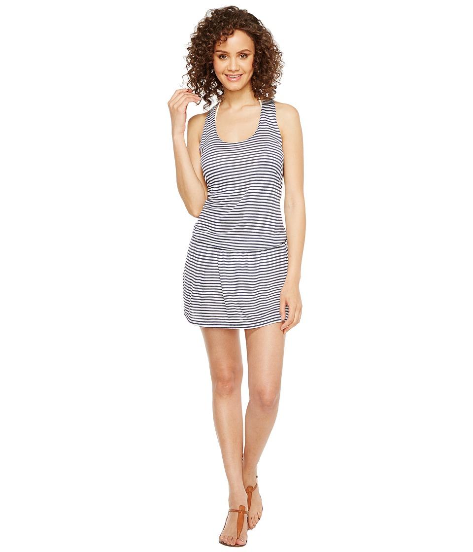 Splendid Malibu Stripe Dress Cover-Up (Blue) Women