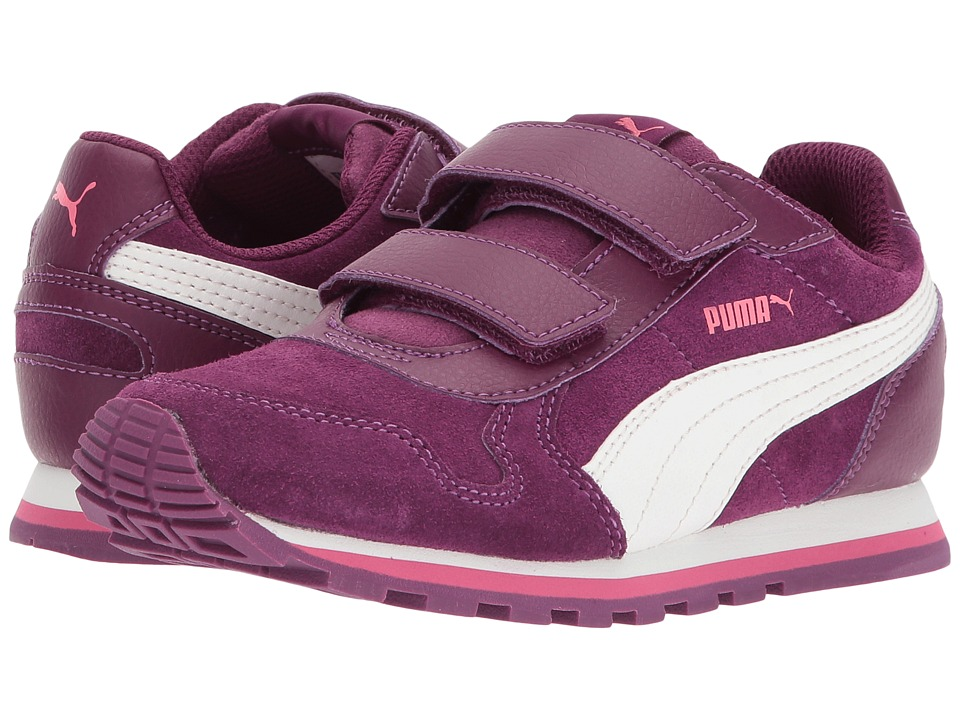 Puma Kids ST Runner SD V (Little Kid/Big Kid) (Dark Purple/Marshmallow) Girls Shoes