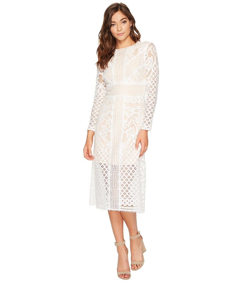 KEEPSAKE THE LABEL Bridges Lace Long Sleeve Dress (Ivory) Women