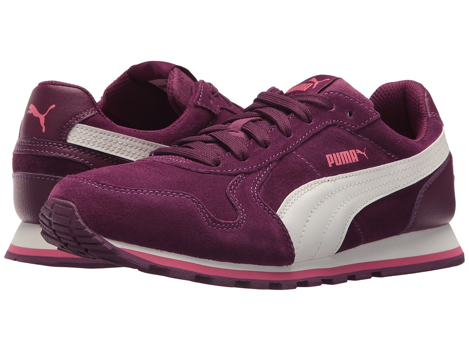 Puma Kids ST Runner SD (Big Kid) (Dark Purple/Marshmallow) Girls Shoes