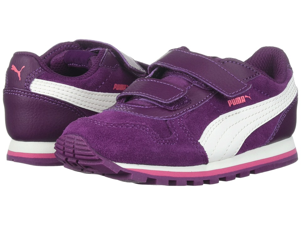 Puma Kids ST Runner SD (Toddler) (Dark Purple/Marshmallow) Girls Shoes