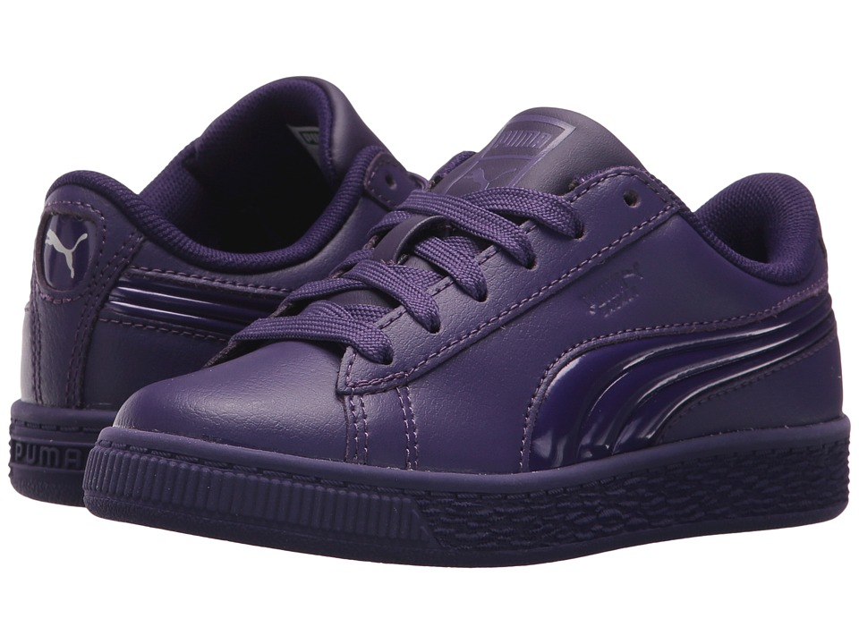 Puma Kids Basket Classic 3D FS (Little Kid/Big Kid) (Violet Indigo/Violet Indigo) Girls Shoes