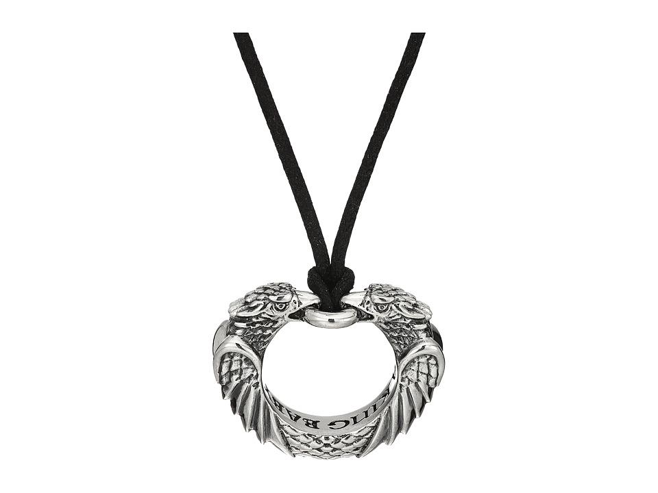 King Baby Double Eagle Circular Pendant Necklace (Silver)...
