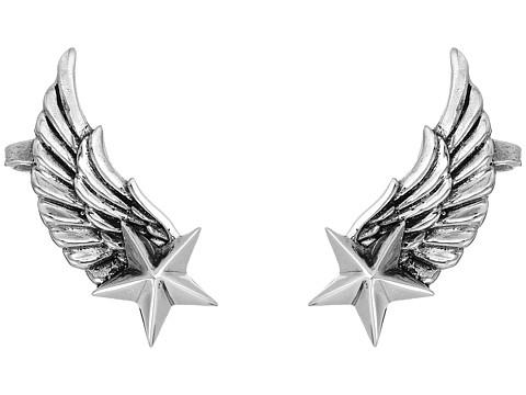 King Baby Studio Winged Star Ear Cuff Earrings - Silver