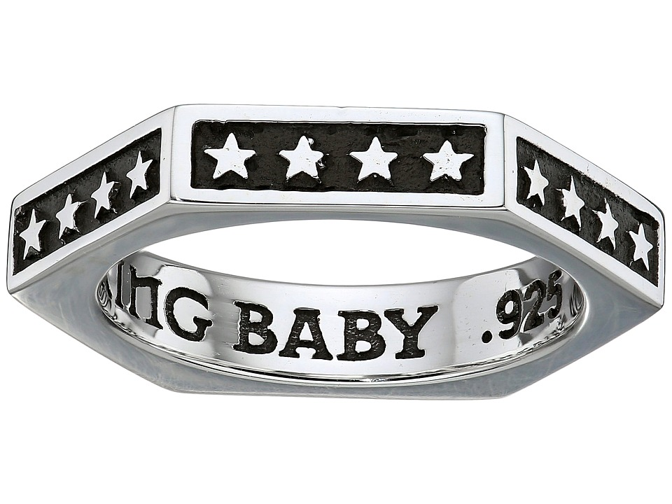 King Baby Hexagon Stackable Ring with Stars (Silver) Ring