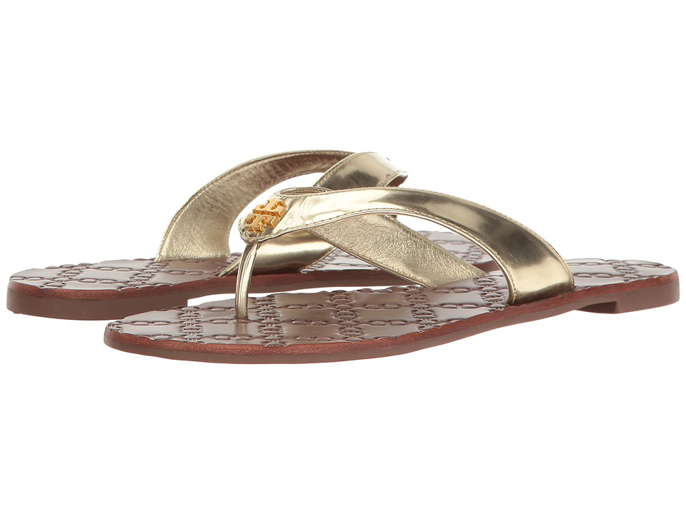 Tory Burch Monroe Thong (Spark Gold) Women's Sandals