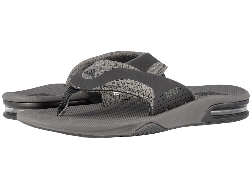 Reef - Fanning Mesh (Grey) Men's Sandals