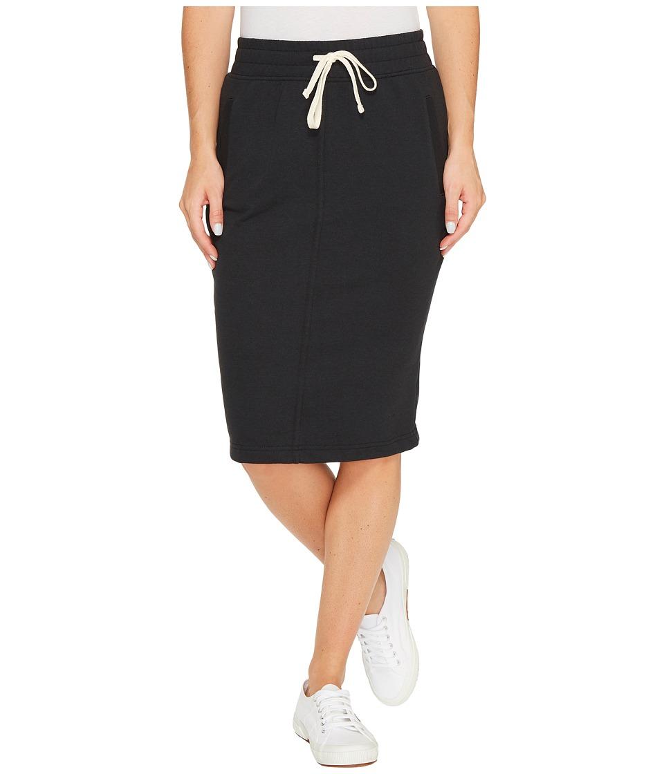 Alternative Vintage French Terry Friday Night Skirt (Black) Women