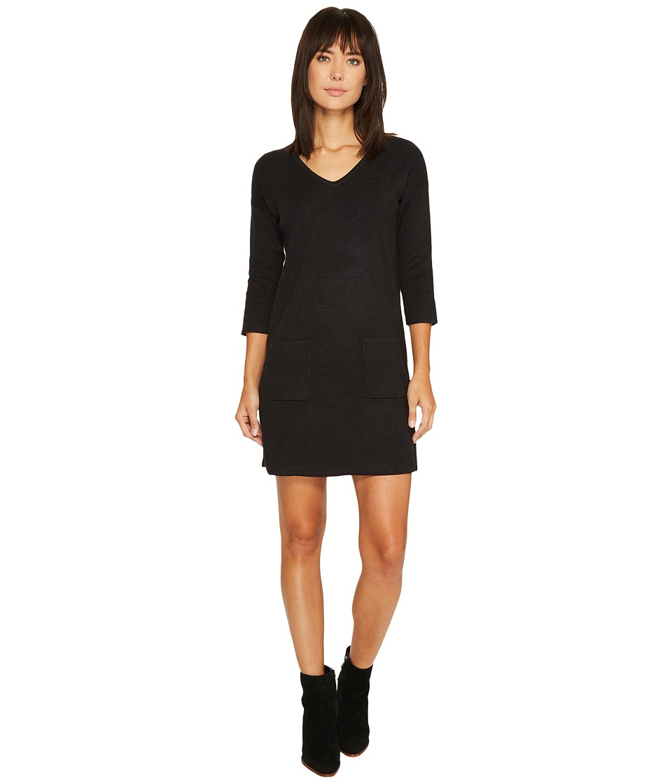 Lilla P Sweater Dress (Onyx) Women