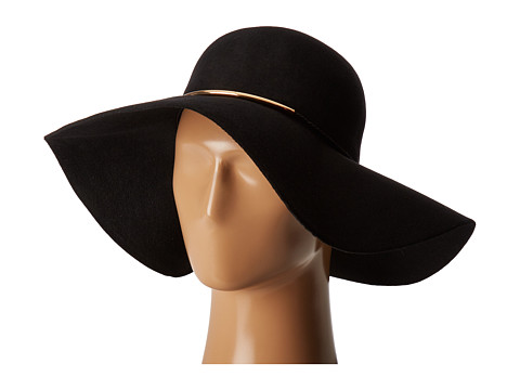 San Diego Hat Company WFH8058 Floppy Hat with Braided Faux Leather - Black