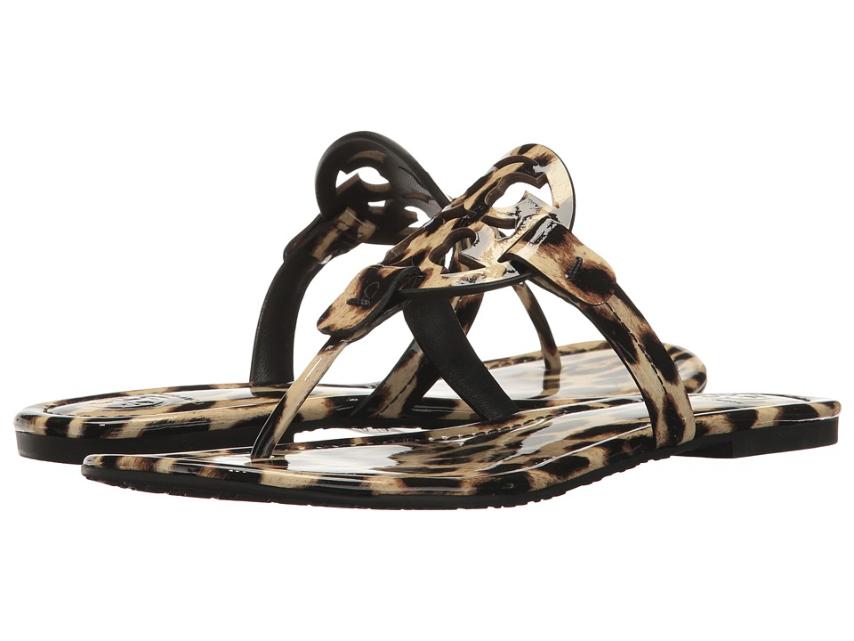 Tory Burch Miller Flip Flop Sandal (Natural Leopard) Women's Shoes