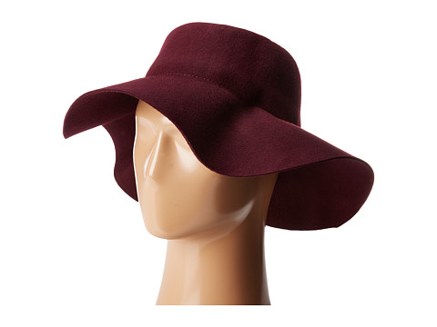 San Diego Hat Company WFH8057 Pleated Crown Floppy Hat - Plum