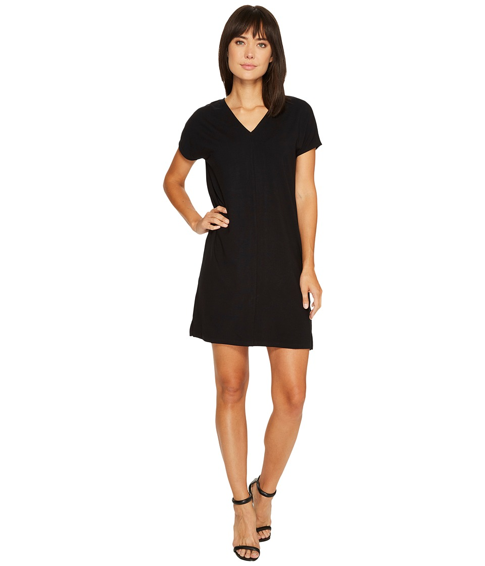 Lilla P Double V-Neck Dress (Black) Women