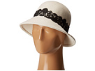 San Diego Hat Company WFH8037 Cloche with Black Lace Trim