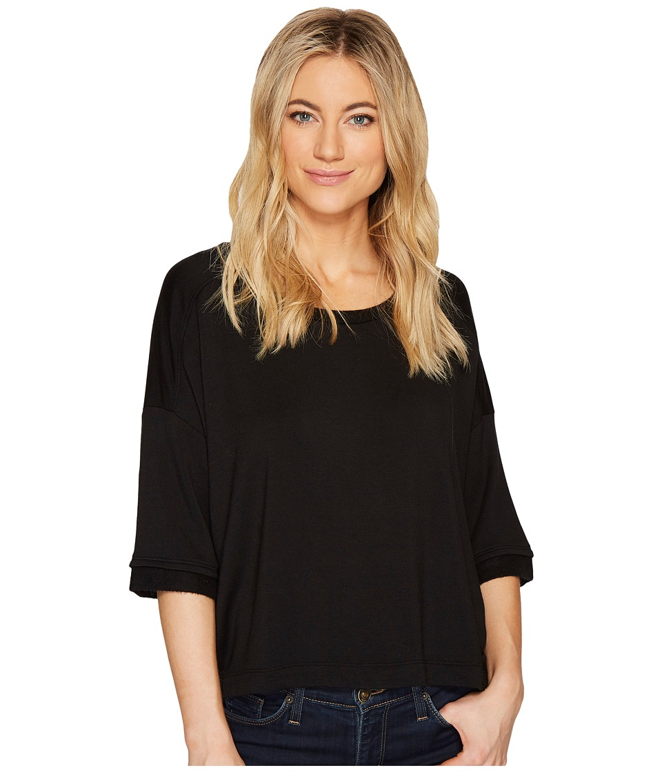 Splendid Oversize Tee (Black) Women