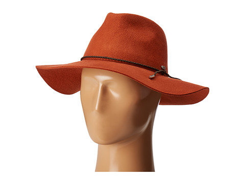 San Diego Hat Company WFH8047 Floppy Fedora with Braided Trim - Rust