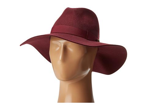 San Diego Hat Company WFH8049 Wide Flat Brim Fedora - Plum