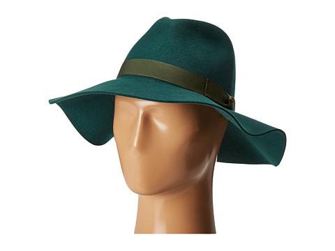 San Diego Hat Company WFH8049 Wide Flat Brim Fedora - Emerald