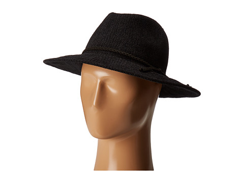 San Diego Hat Company CTH8078 Knit Fedora with Braided Faux Suede - Black