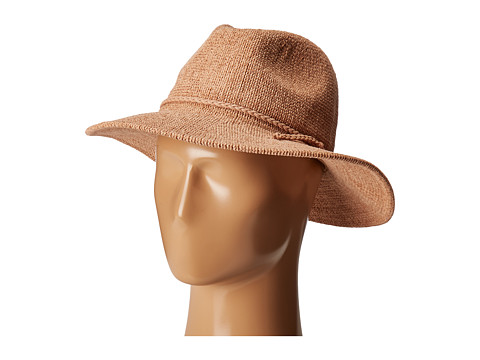 San Diego Hat Company CTH8078 Knit Fedora with Braided Faux Suede - Camel