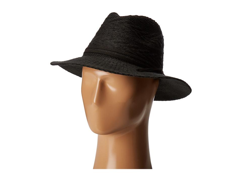 San Diego Hat Company - CTH8073 Knit Pattern Fedora (Black) Fedora Hats