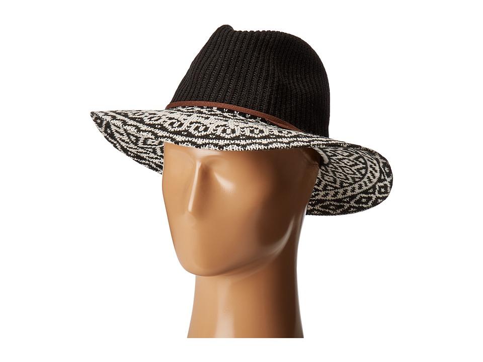 San Diego CTH8076 Knit Pattern Fedora (Black) Fedora Hats
