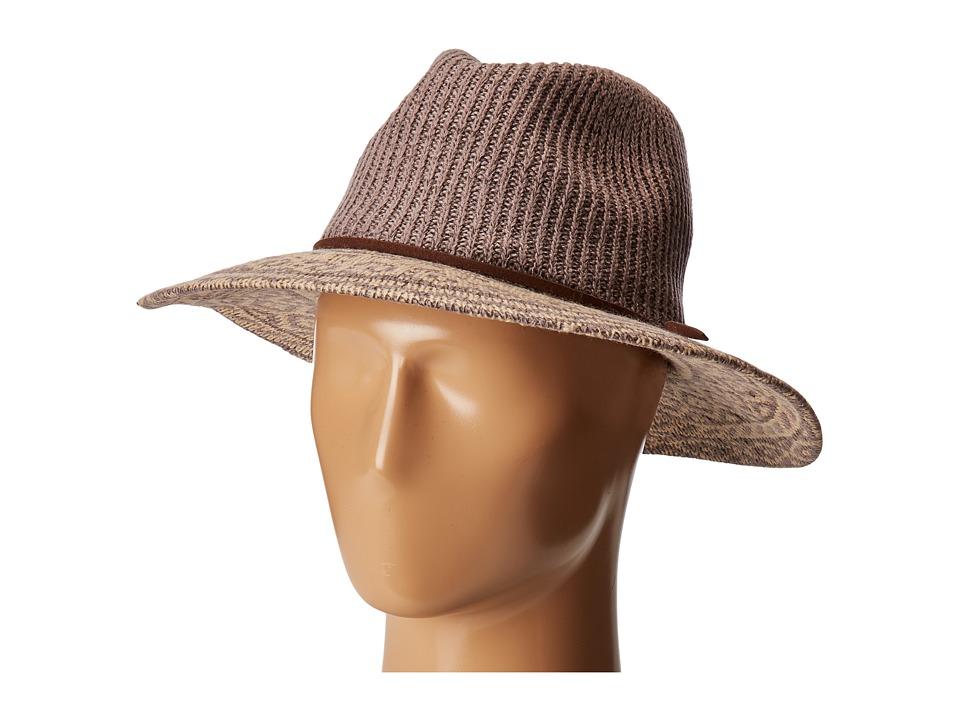 San Diego CTH8076 Knit Pattern Fedora (Grey) Fedora Hats